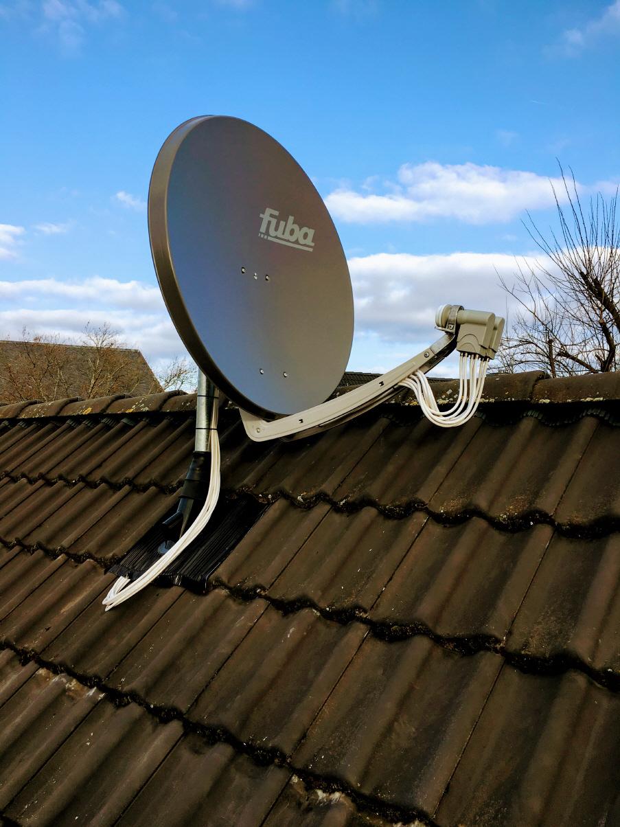 Sat Anlage Satelliten Satschussel Installation
